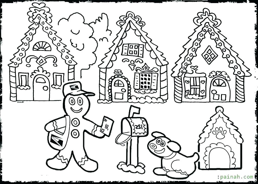 1024x728 Gingerbread Coloring Pages Cheap Ad House Coloring Pages Image