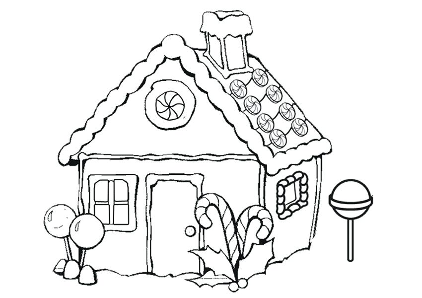 850x600 Gingerbread Coloring Pages Free Gingerbread House Coloring Pages