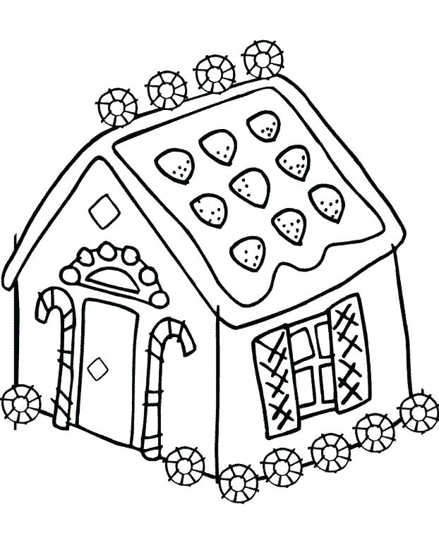 622x790 Gingerbread House Candy Coloring Pages Of Houses