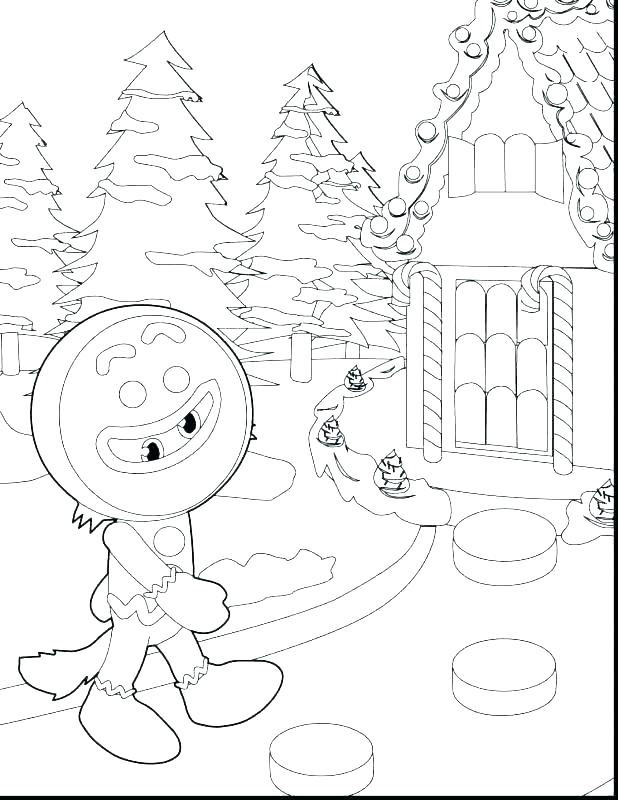 618x800 Gingerbread House Coloring Page Gingerbread House Candy Coloring