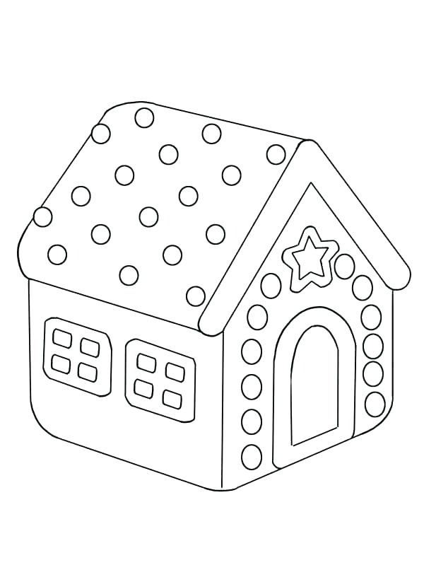 600x799 Gingerbread House Coloring Page Gingerbread House Coloring Sheets