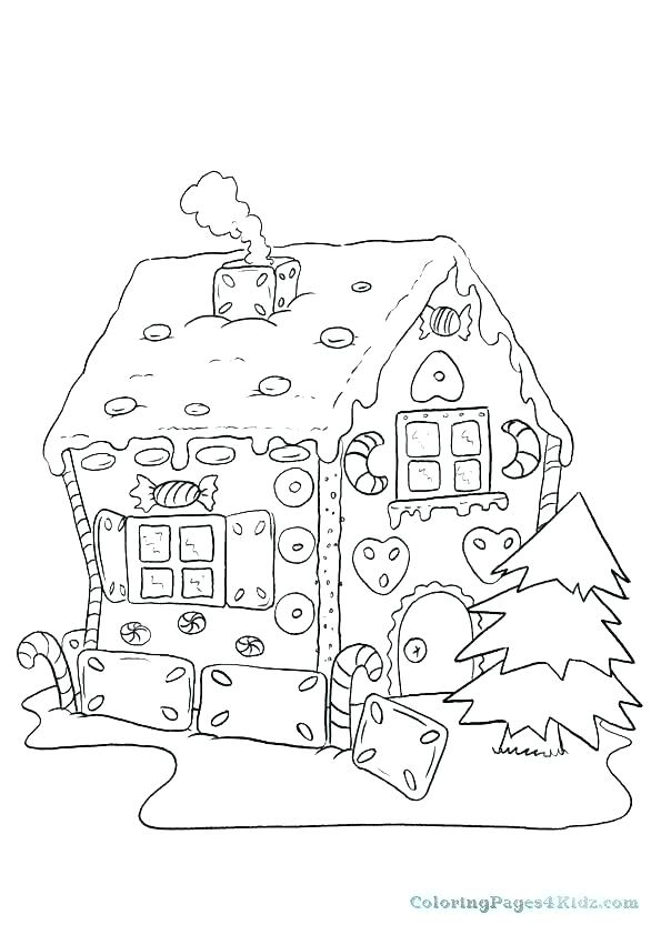 595x842 Gingerbread House Coloring Page Image Of Gingerbread House