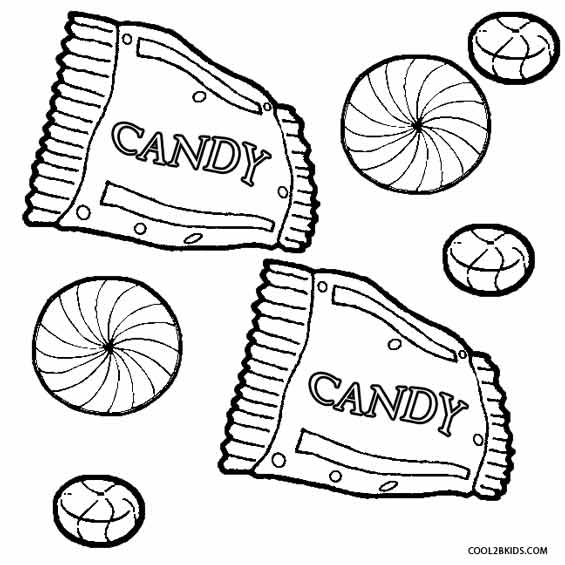 565x565 Printable Candy Coloring Pages For Kids