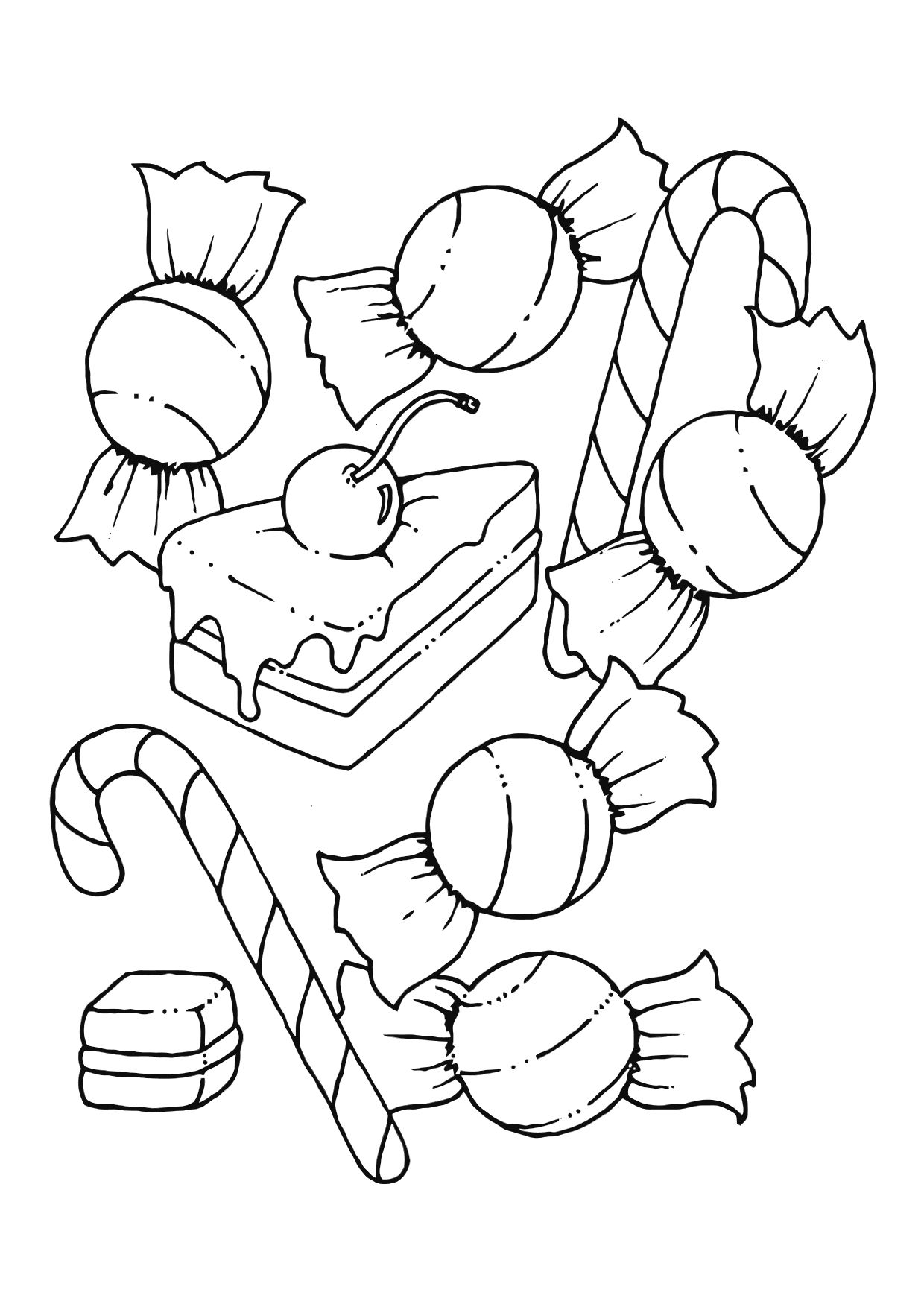 1240x1750 Trendy Design Candy Coloring Pages To Print For Gingerbread House