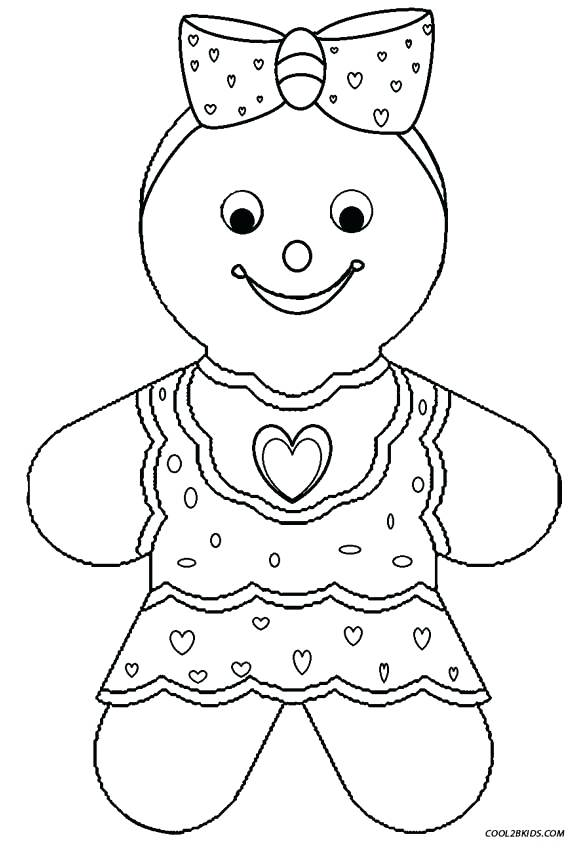 582x850 Gingerbread House Coloring Pages