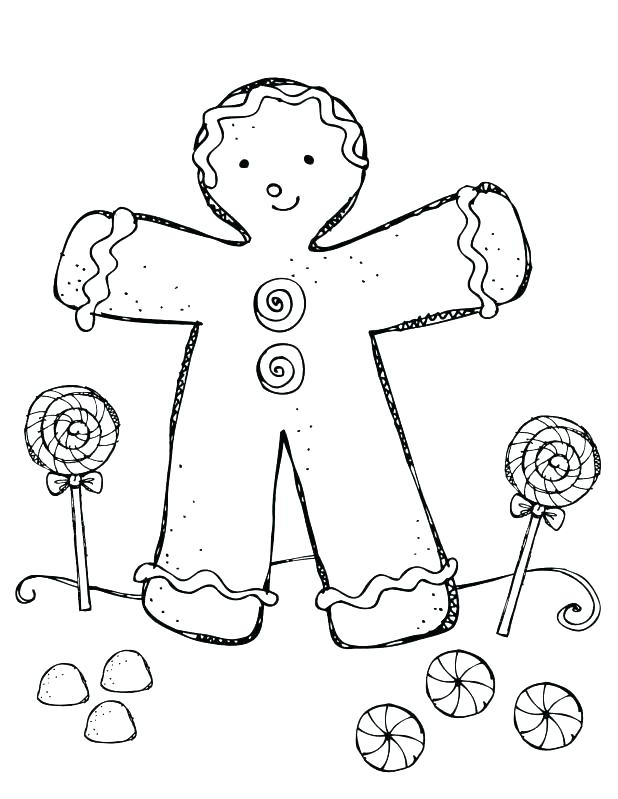 618x799 Candy Coloring Pages For Gingerbread House Candy Coloring Page