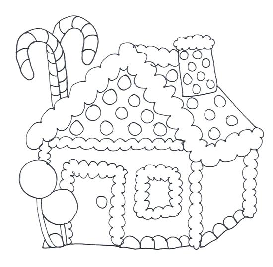550x539 Candy Coloring Pages For Gingerbread House Free Printable House
