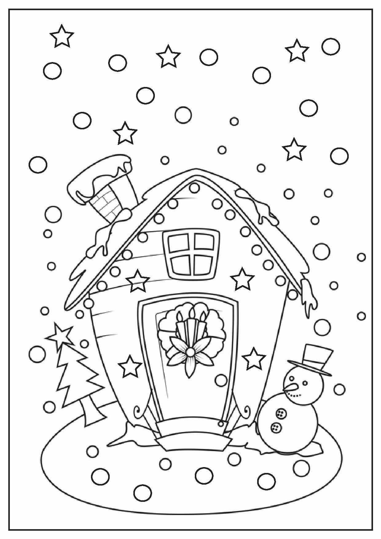 1240x1754 Gingerbread House Coloring Pages With Wallpapers Laptop New