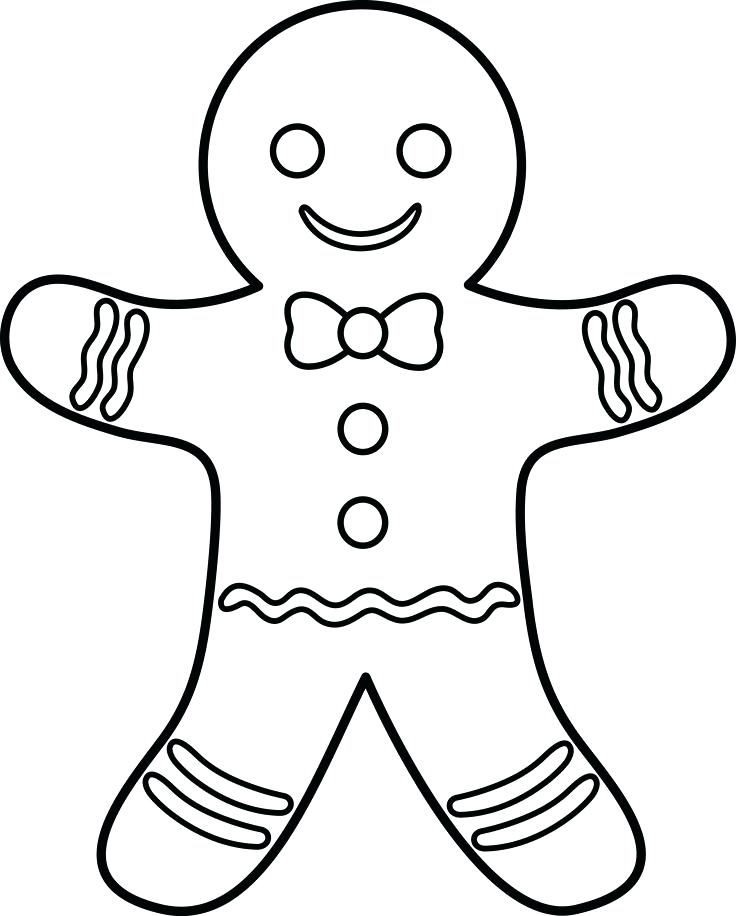 736x916 Gingerbread Man Coloring Pages Printable Gingerbread Man Free