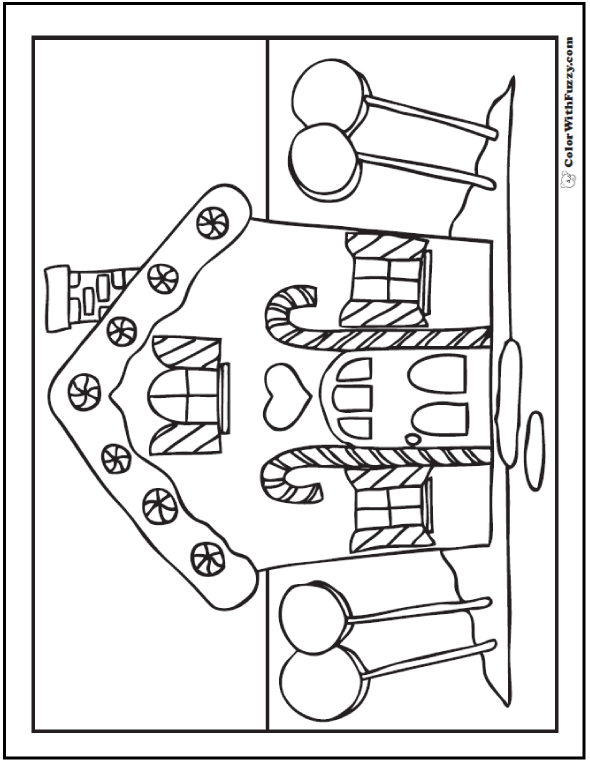 590x762 House Coloring Sheet