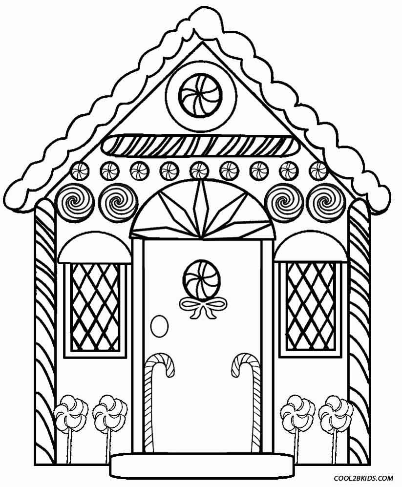 823x997 Printable Gingerbread House Coloring Pages For Kids