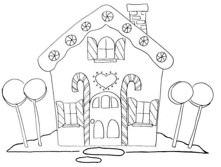 728x550 Gingerbread House And Two Man Coloring Page Clip Art Hand