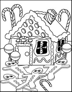 236x299 Gingerbread House Coloring Page Free Download