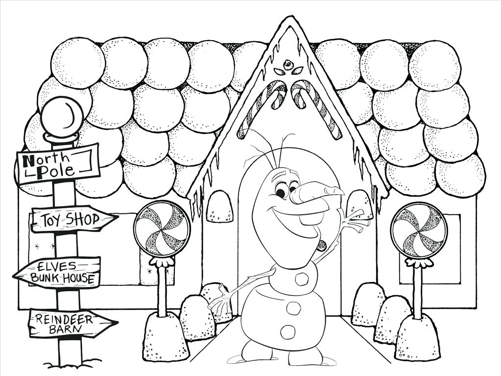 1023x767 Gingerbread House Coloring Page Gingerbread House Color Page Lofty