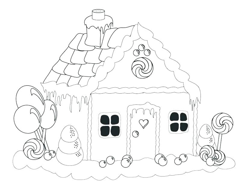 800x601 Gingerbread House Coloring Pages