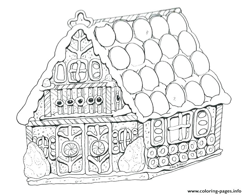 825x657 Gingerbread Man Coloring Pages Printable House For Kids