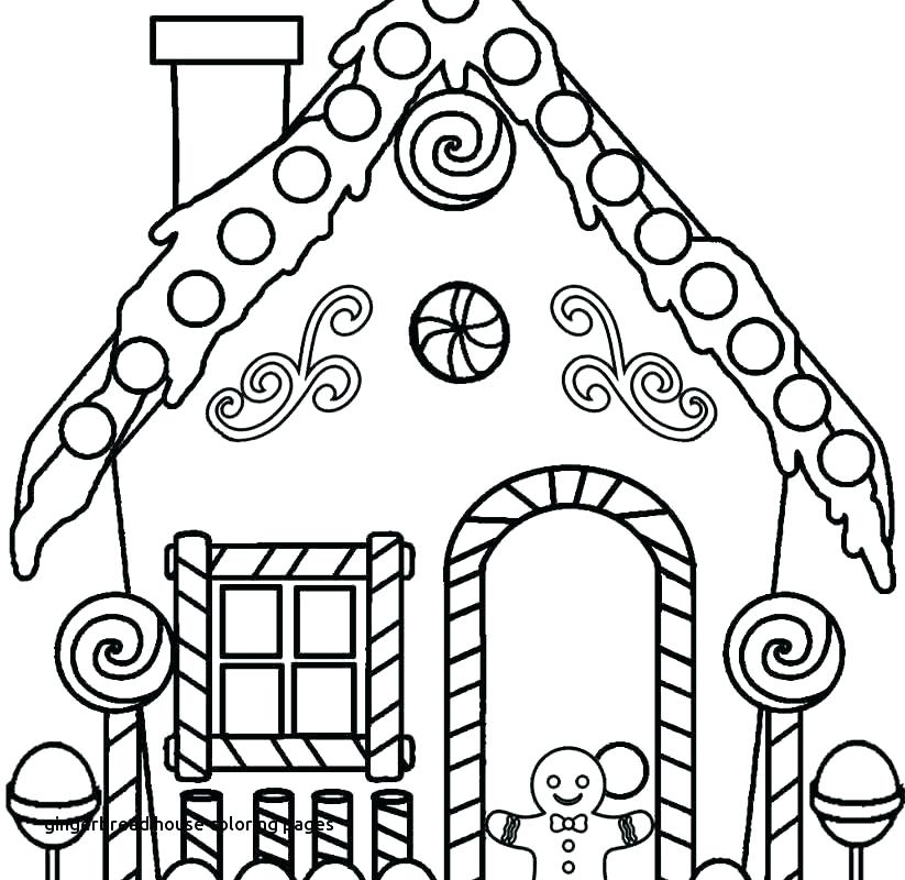 823x800 House Coloring Pages Printable Free Printable Gingerbread House