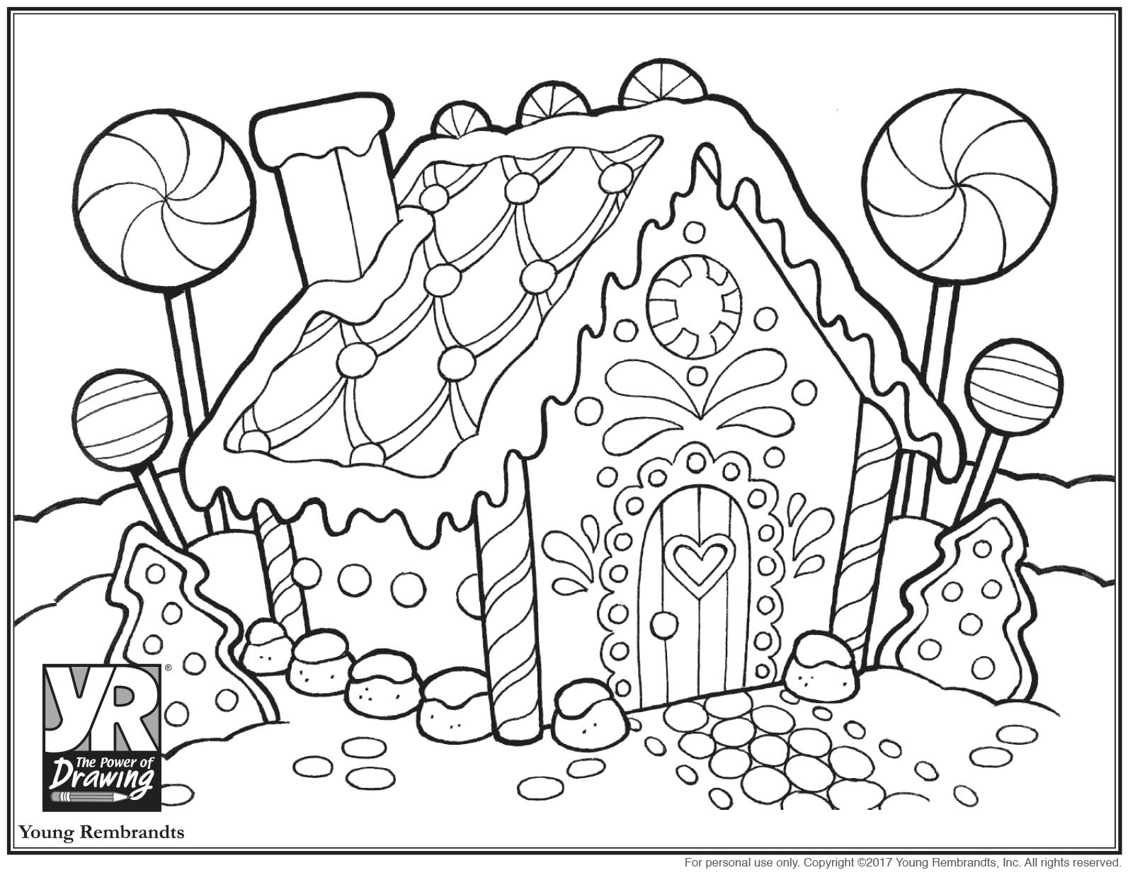 1610x1236 Fresh Gingerbread House Coloring Page Young Rembrandts Shop
