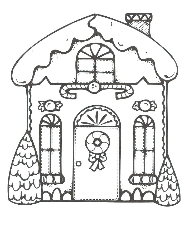 Gingerbread House Coloring Pages Free At Getdrawings Com