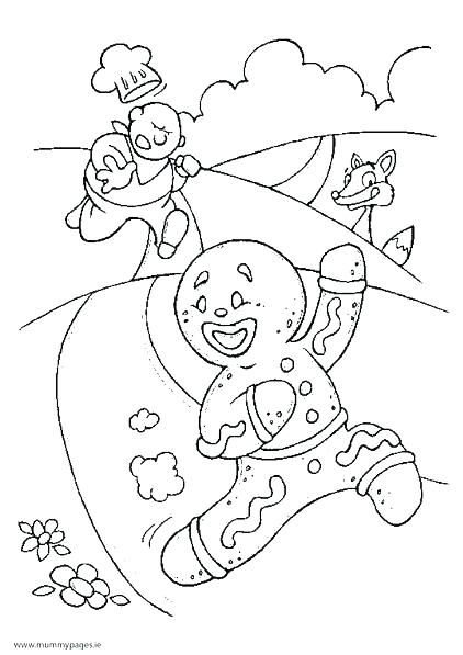 422x597 Gingerbread House Coloring Page Gingerbread Man Coloring Pages