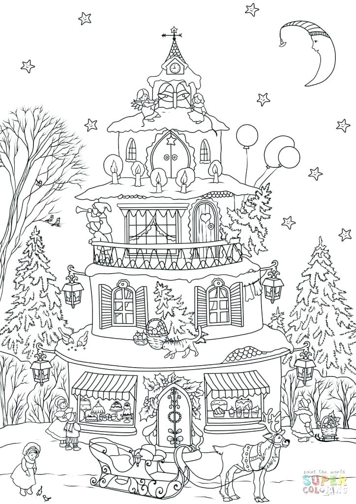 724x1024 Gingerbread House Coloring Page House Drawing House Coloring Page