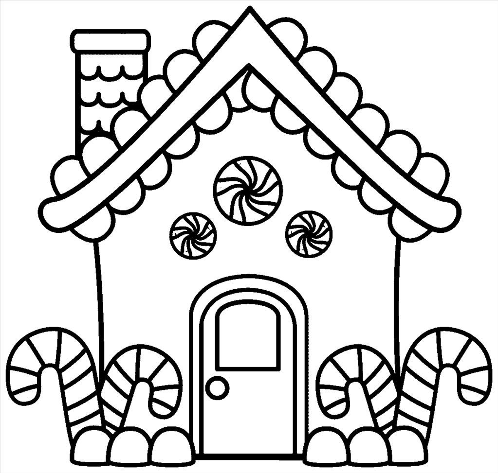 1023x973 Gingerbread House Coloring Pages Free Printable Snowflake For Kids