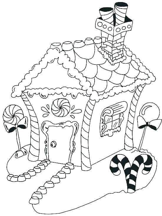 550x733 Gingerbread House Coloring Pages Printable Delicious Gingerbread