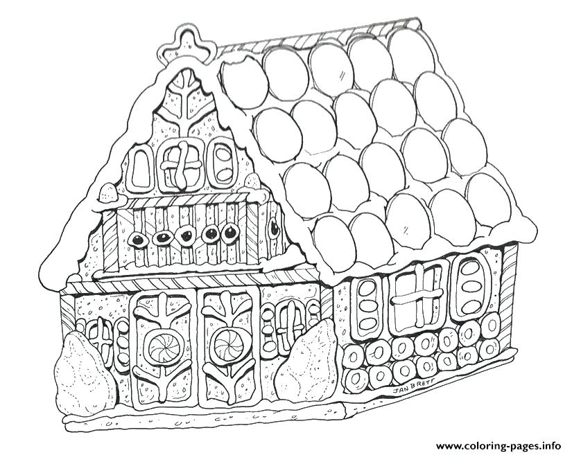 825x657 House Color Page Gingerbread House Coloring Page Printable