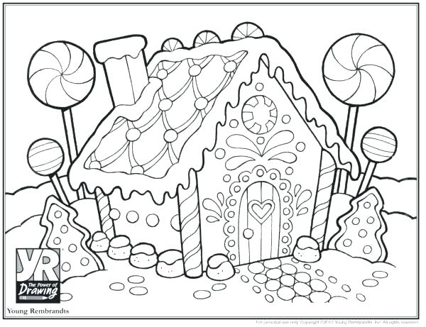 600x461 Houses Coloring Pages Gingerbread House Coloring Page Young Shop