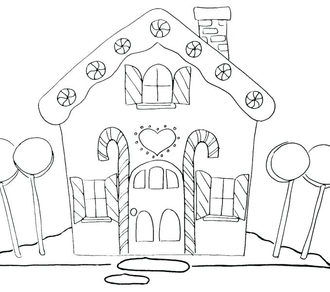 678x600 Printable Gingerbread House Patterns To Color Kids Coloring