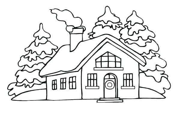 600x379 Simple House Coloring Pages Best Of Page Free Printable For Kids