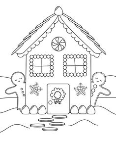 236x291 Free Printable House Coloring Pages For Kids Gingerbread, Free