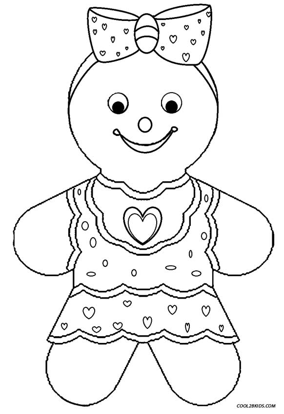 582x850 Gingerbread Coloring Pages