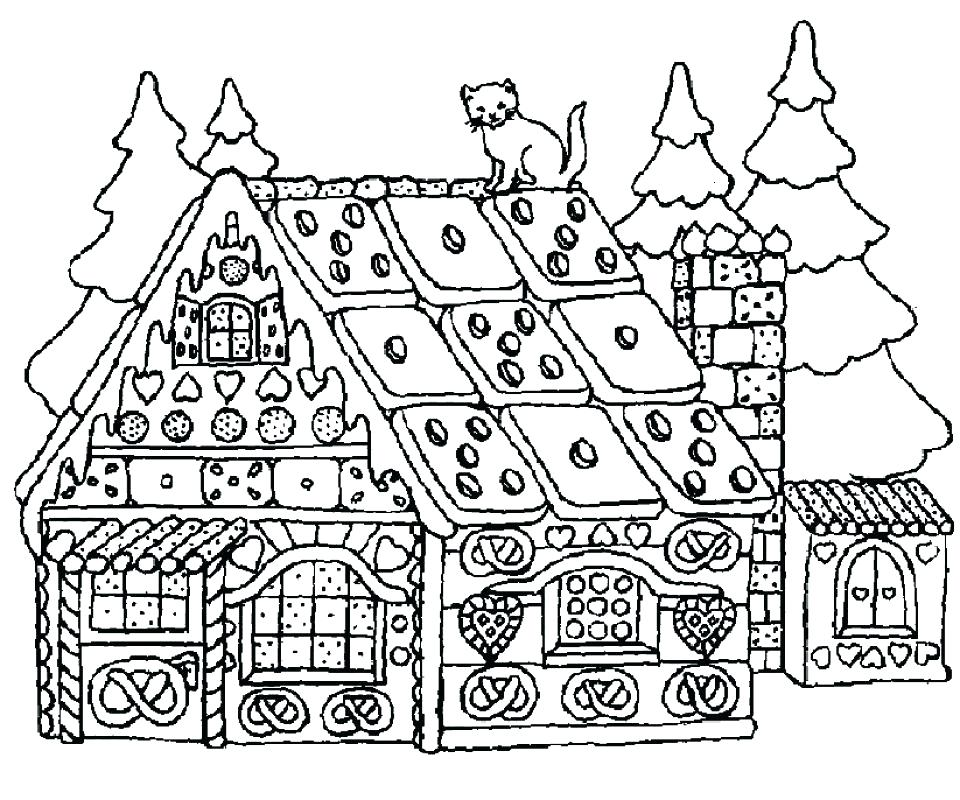 960x800 Gingerbread House Coloring Page House Color Page Gingerbread House