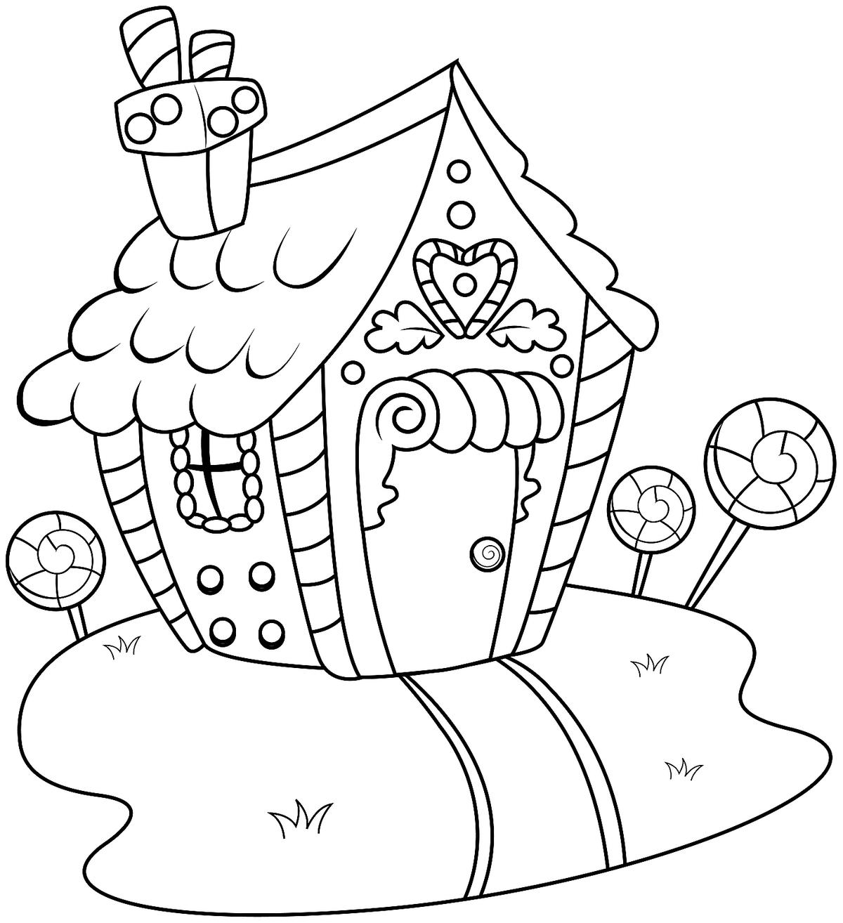 1200x1314 Gingerbread House Coloring Pages Printable Coloring, Activity