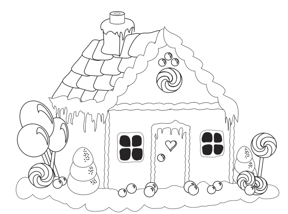 989x733 Printable Coloring Pages Fresh Printable Gingerbread House