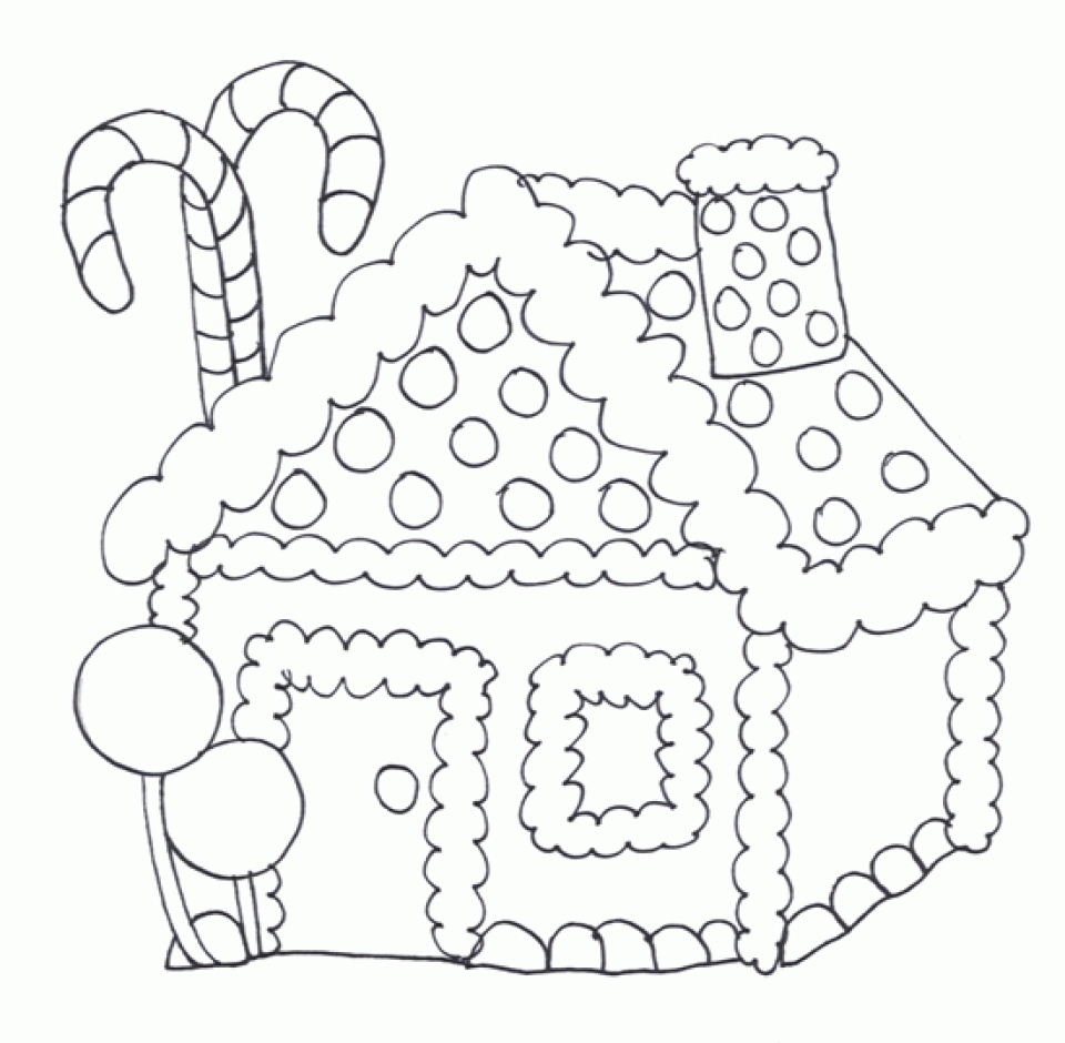 960x940 Coloring Pages Online Best Of Get This Gingerbread House Coloring