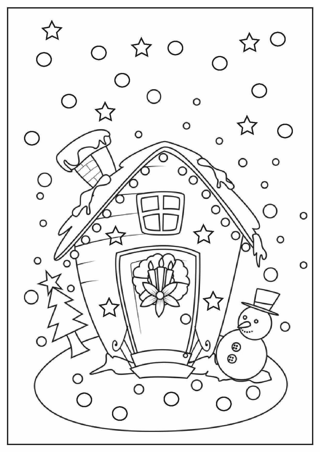 1240x1754 Printable Gingerbread House Coloring Pages