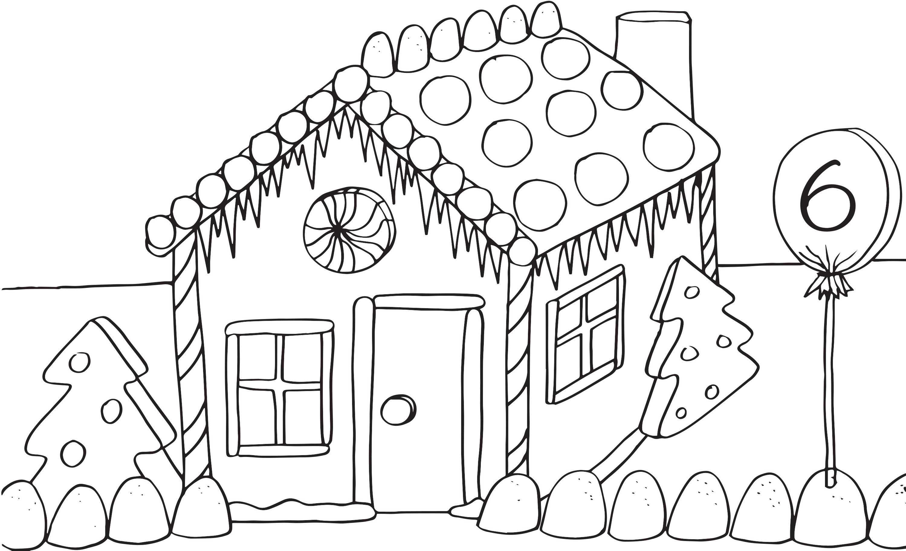 2998x1822 House Coloring Pages To Download And Print For Free Gingerbread
