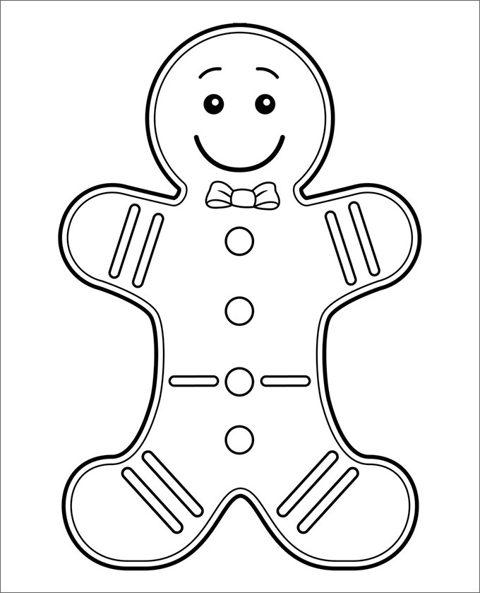 680x839 Gingerbread Man Templates Colouring Pages Free Premium