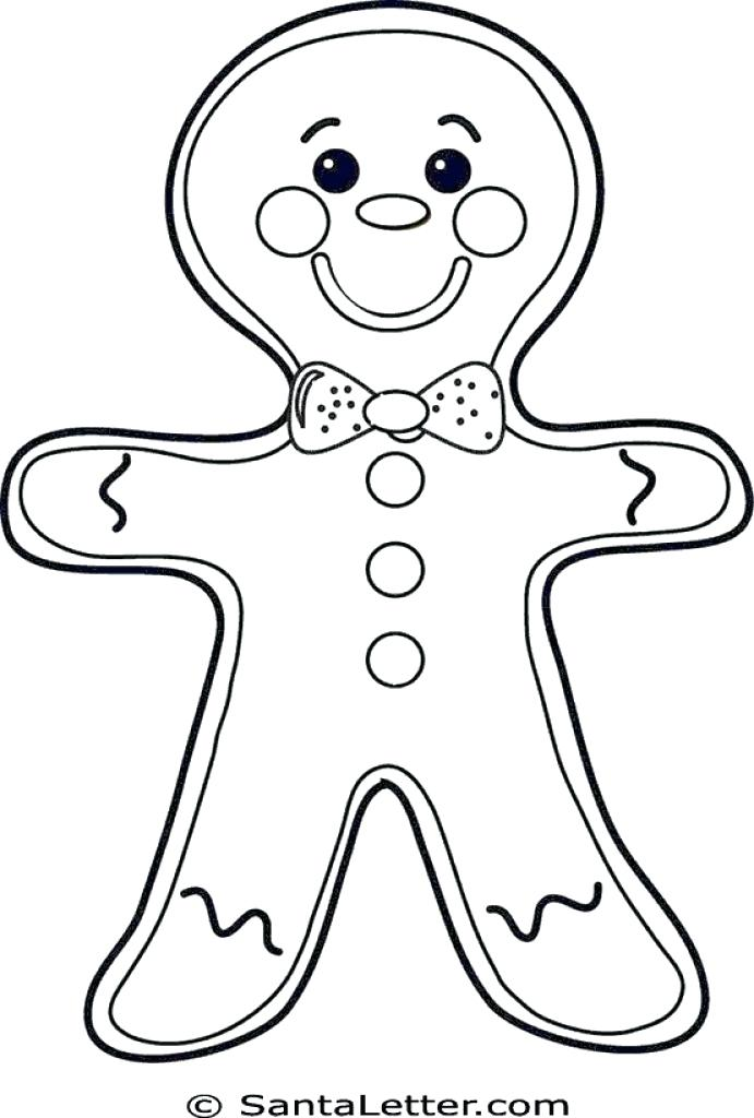 691x1024 Gingerbread Man Color Page Gingerbread Coloring Pages Gingerbread