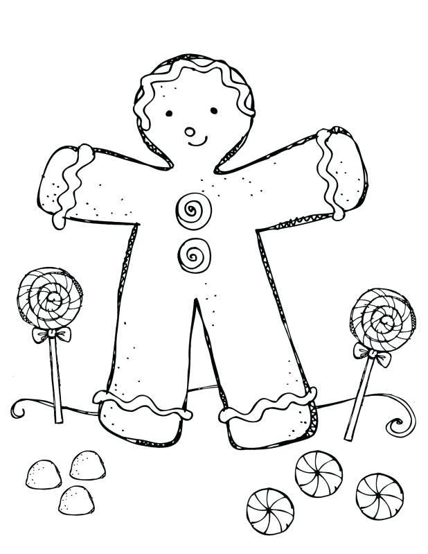 618x799 Gingerbread Man Coloring Page Breathtaking Pages Gingerbread