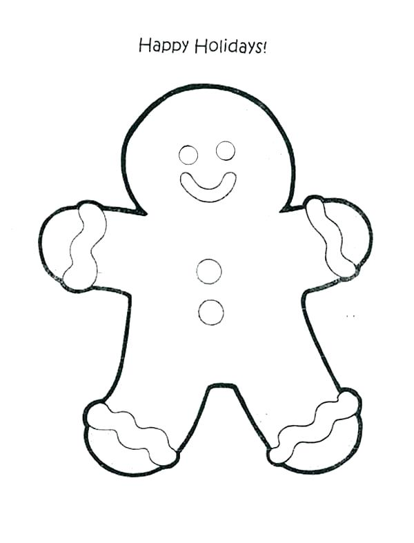 600x787 Gingerbread Man Coloring Pages