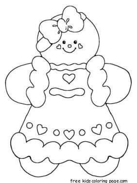 282x377 Printable Gingerbread Man Coloring Pages Coloring