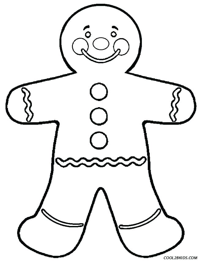 653x850 Blank Gingerbread Man Coloring Page