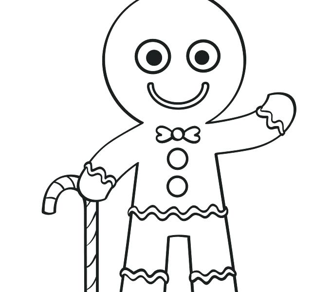 678x600 Coloring Pages Gingerbread Man
