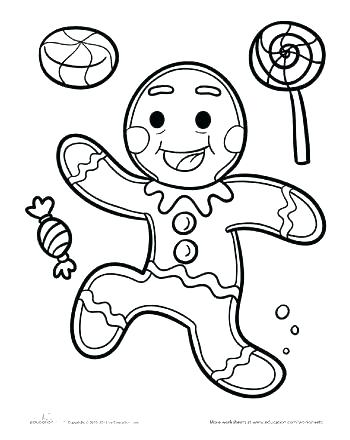 350x440 Coloring Pages Gingerbread Man Ginger Bread Man Coloring Page