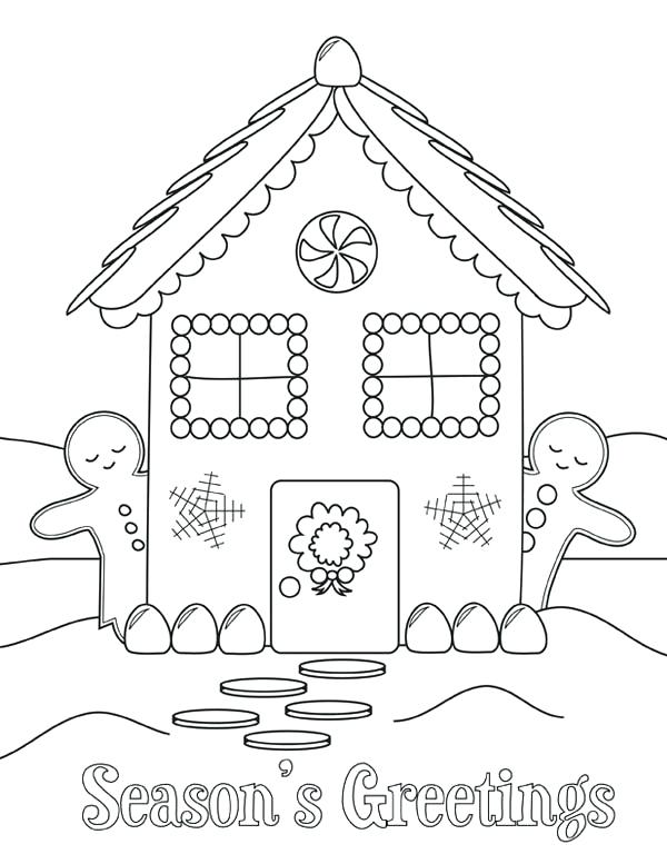 600x777 Gingerbread Coloring Pages Coloring Pages Of Gingerbread Houses