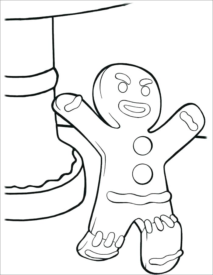 700x905 Gingerbread Coloring Pages Free Printable Gingerbread Man Template