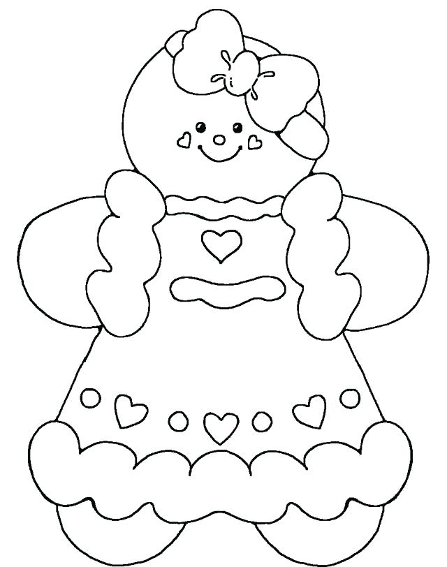 640x812 Ginger Bread Man Coloring Page Gingerbread Man Color Page